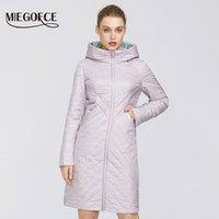 Miegofce 2020 дизайнер весенние женские хлопчатобумажные куртки с молнией и средней длины, устойчивый к капюшоному воротку с капюшоном Женский плащ ветрозащитный LJ200825
