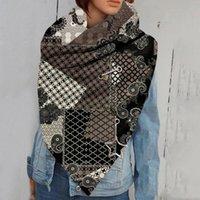 2020 Fashion Women Printing Button Soft Wrap Casual Warm Scarves Shawls hot sale scarves Women Plain Retro Printed #OCT