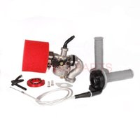 PZ19 기화기 섭취 흡기가 가능한 스로틀 그립 정착 케이블 에어 필터 오일 필터 50cc 70cc 90cc 110cc 핏 자전거 ATV 쿼드 Go Kart1