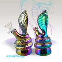 La limande conduite d'eau de verre truque Serpent Forme tube coloré verre d'eau Bong Hookah For Smoking Avec un design unique