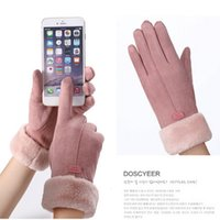 New Fashion Women Gloves Autumn Winter Cute Furry Warm Mitts...