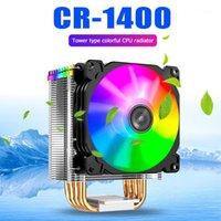 Fani Chłodzenie Jonsbo CR1400 PWM 4PIN PC chłodzący wentylator RGB 4 Rury ciepła CPU Chłodnica Computer Computer Grzejnik dla Intel 1151/1155 / AM3 / AM4 Headsink1