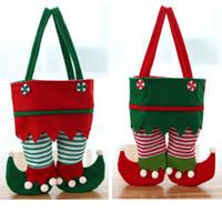 Украшения рождества Elf сумка Нового конфеты мешок Санта мешок подарки Праздник для вечеринок Свободного DHL корабль HH9-3368