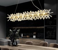 Lampadario moderno di lusso illuminazione per sala da pranzo Nuovo arrivo LED Lampada a cristallo Lampada da cucina Cucina Isola Decor Lustres de Cristal