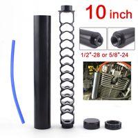 ABD Stok 10 inç alüminyum 1/2-28 5/8-24 tek çekirdekli araba yakıt filtresi napa 4003 Wix 24003 yakıt tuzağı solvent filtreleri RS-OFI043