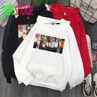 Herren Hoodies Sweatshirts Harajuku Coole Cartoon Männer Unisex Mode Japanische Anime Akatsuki Gedruckt Sweatshirt 90er Jahre Grafik Hiphop Hoody Male