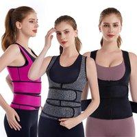 Bel Desteği Toptan Kadın Eğitmen Yelek Neopren 2Belts Vücut Şekillendirici Zayıflama Korse Shapewear Binder Trans Modelleme