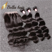 Bonnet Bella Hair® Brésilien Bundles avec fermeture 8-30 Double trame Human Hair Extensions Hair Free Fermeture Body Wave onduleuse Julienchina