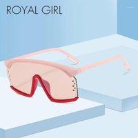 Lunettes de soleil Royal Girl 2021 Square Square Marque Masque Masque Sunshade Top Plat Modèles SS4671