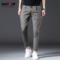 Jantour Marque Printemps Summer Summer Pantalons Hommes Coton Slim Fit Chino Fashion Hommes Pantalons Pantalons Homme Marque Jogger Vêtements 201226