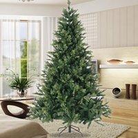 alta qualità US STOCK 7.5ft PE mix PVC albero di Natale in metallo pieghevole supporto W49819950