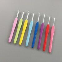 ミシンの概念ツールアルミニウム編み針かぎ針編みフックポータブル8ピース針糸TPRハンドルニットウィーブクラフト