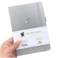 Notepads Buke Squirrel Planner Dot Grid Cuaderno Diario y Dibujo Sketcbook - PU Cuero, 160gsm Papel grueso
