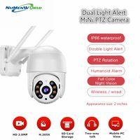 الكاميرات البسيطة في الهواء الطلق ptz wifi ai كاميرا IP 1080P سرعة قبة cctv الأمن كاميرا لاسلكية 2MP المزدوج ضوء مصدر home1