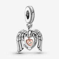 100٪ 925 فضة أجنحة الملاك القلب استرخى سحر صالح الأصلي الأوروبي سحر سوار أزياء المرأة الزفاف الاشتباك مجوهرات اكسسوارات