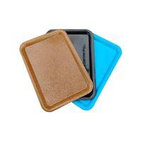 Plateau de roulement en plastique 18x12cm S Taille Petite main Rouleau Rouleau Tin Pure Color Case Handroller 3 couleurs Plateaux DHL gratuites
