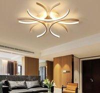 Modern Led Tavan Lambaları Alüminyum Dalga Beyaz yüzey Yatak Livingroom için Luster Avize Aydınlatma 110V-220V monte