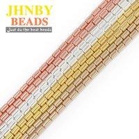 Andere Jhnby 4x2mm Gold Silve R Zylinder Hämatit Naturstein Runde Abstandhalter Lose Perlen für Schmuckherstellung DIY Armbänder Zubehör
