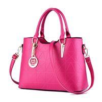 HBP حقائب اليد حقيبة المحافظ حقائب نسائية بو الجلود حقائب الكتف سعة كبيرة عارضة حمل روز اللون الأحمر