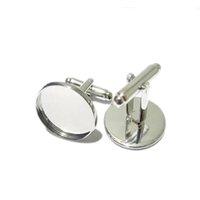 Заполнение запонки Beadsnice для ювелирных изделий из латуни ручной работы задохнул оптом с круглым подносом Cabochon 16 мм ID8896 VBAWI