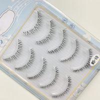 5 Pairs of Women Lady New Popular Handmade Messy Natural Cross False Eyelashes Black Eye Lashes Cosmetic Makeup Tools CPA2360