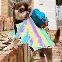 العلامة التجارية الجديدة معطف واق من المطر مقاوم للماء كلب صغير الملابس معطف المطر سترة للكلاب القطط الأصفر والتمويه T200710
