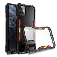 Neuer Anti Tropfen und Farbe Acryl Handy der rückseitige Abdeckung für iphone 12 11 pro max xr x / xs max 7/8 6 / 6s und Stoß- Handyfall