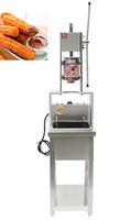 Envío gratis Steel de acero inoxidable 5L Cinco boquillas Manual Máquina de churros españoles + 25L 220V Freidora eléctrica eléctrica + soporte de trabajo