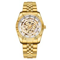 Chenxi الرجال الذهب ساعة اليد الذكور التلقائي الميكانيكية الفولاذ المقاوم للصدأ حزام 001 ووتش الهيكل العظمي howolout ساعة الرياضة الساعات الذكور هدية