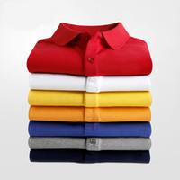 Hombre de verano Camiseta Camisa Polo Abrigo Algodón Doble Hebilla Casual Color Sólido Moda Respirador Hombre Polo Tamaño S-5XL