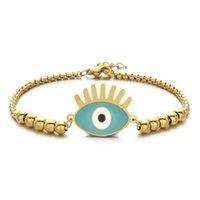 سحر أساور zmzy الأزياء سلسلة الذهب المقاوم للصدأ مجوهرات لطيف الشر الشرير العين للنساء حبة سوار هدية