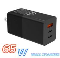Зарядное устройство для iPhone Samsung Macbook 65W GaN USB C PD 20W зарядное устройство Qc3.0 PPS SCP AFC USB-C Тип C Fast USB