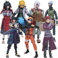 14 cm Naruto Uchiha Sasuke Itachi Namikaze Minato Hatake Kakashi Gaara Jiraiya PVC Action Figure Oyuncaklar Modeli Q0522