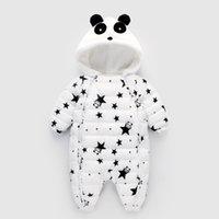 Inverno Primavera Baby pagliaccetti Panda Tuta tuta della tuta Neonato Ragazza Ragazzo dell'anatra giù Snowsuit bambini Infant neve di usura
