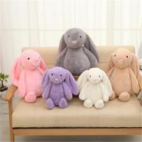 US Stock Påskkanin 12 tum 30cm Plysch fylld Toy Creative Doll Soft Long Ear Rabbit Animal Kids Baby Valentines Day Födelsedaggåva