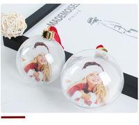 Enfeites de Natal redondo forma de bola personalizada consumíveis personalizados fornece presente de natal mterial sem cartão
