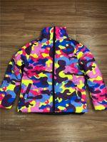 Unisex Plus Размер хлопок ватник Puffer ватных пальто Камуфляж Дизайн Толстого Wabbed куртка Мода Outwear ветрозащитный Теплый Top F110303