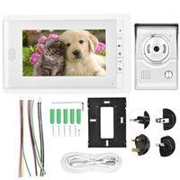 7 في اللون HD TFT-LCD الذكية الجرس الفيديو إنترفون نظام الدخول الفيديو