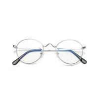 2021 Novos óculos retrô Mulheres Metal Ultralight Glassesframes Dos Homens Gold Round Eyewear Frames WD1702 Orud