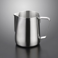 100 150 ml de acero inoxidable Herramientas de café taza de café del té tazas de leche Arte espumejea herramientas barra de la cocina voluntad y nave de la gota de arena
