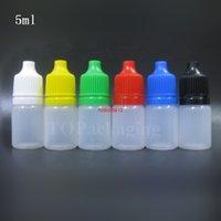 5ML البلاستيك فارغة البلاستيك القابل للقطارة زجاجة العين قطرات موزع السائل ضغط صغير الضغط مع العبث واضح كابست Qualtity