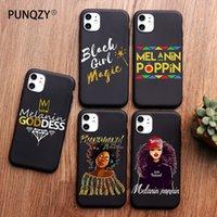 TPU PUNQZY Afro Nero Magic Girl regina melanina Poppin della cassa del telefono di iPhone 12 Pro 11 PRO MAX XS MAX XR X 6 8 7 Plus SE 2