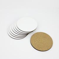 DIY Sublimation leere Untersetzer aus Holz isolierter Kork-Schalenmatte MDF Werbung Geschenk Förderung Halbzeuge isolierte Tasse Matten für Geschenk SN3376