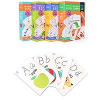 Educación temprana Tarjeta de flash Flash Word Word La tarjeta cognitiva puede practicar escritura a mano juguetes educativos de los niños repetidamente