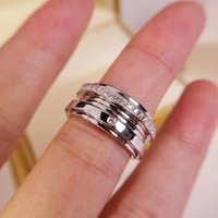 New arrival pure silver band ring Sign Charm with one diamond and line dia ond logo for Women and man Fashion Jewelry Gift Drop Shipping