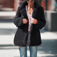 2021 New Women Coat Fluffy Jacket Autumn Plush Thick Casual ...