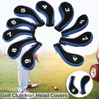 12pcs Set Of Golf Club Cover Zipper Type Golf Iron HeadCover...