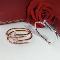 Heißer Verkauf Produkte Schraube Nägel Hohe Qualität Armband Gold Armbänder Frauen Punk Für Beste Geschenk Luxuriöse Überlegene Qualität Schmuck Armreifen
