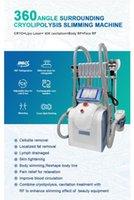 En İyi Kalite L7 1 Cryolipolysis Yağ Donma Makinesi Cryo Kavitasyon Zayıflama Makinesi Lazer Pad ile 40KAvitation RF Çift Çene Kaldırma