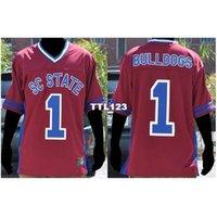 Erkekler # 1 Güney Carolina Devlet Kadın Bulldogs Kolej Forması Boyutu S-4XL veya Özel Herhangi bir isim veya Number Jersey